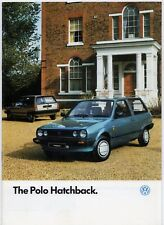 VOLKSWAGEN POLO HATCHBACK 1986-87 UK Opuscolo Vendite del mercato Base C CL RANGER