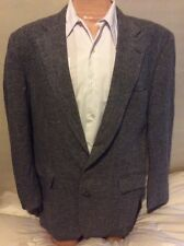 Justers Gray Sport Coat Men 42R Houndstooth Jacket 2 Button Blazer Partial Lined