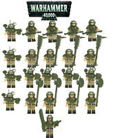 21PCS Warhammer 40K Building Block Imperial Guard Infantry A Mini Figure DIY Toy