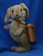 """Wonderful 1950's 5 Ways Jointed Comical 12"""" Standing Steiff Rabbit No Button"""