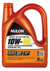 Nulon Semi Synthetic High Performance Engine Oil 10W-40 5L SEM10W40-5 fits To...
