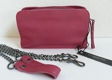 Liebeskind Berlin Crissy S Cross Body Bag Clutch Kiss Red Leather NWT