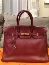 Hermes Birkin 35cm Chevre De Coromandel Goat Leather Rouge H Burgundy GHW Bag