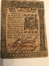 April 25, 1776 Pennsylvania Note