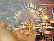 Cat in love OOAK Realistic Miniature Handsculpted Handmade Dollhouse 1:12 kitten