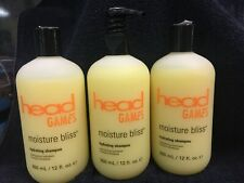 Lot of 3 Head Games Moisture Bliss Hydrating Shampoo 12 fl oz each