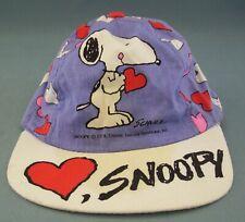 Snoopy Toddler Hat Dog Hearts Cap Peanuts Valentine Purple Unisex Elastic