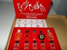 "COFFRET 10 MINIATURES DE PARFUM  ""ROCHAS"" - NEUF - PLEINES + BOITES"