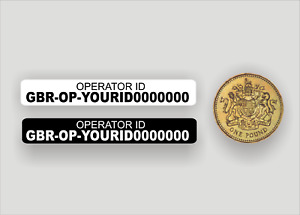 10x Operator ID stickers - drone, CAA Regulatory Labels, High Quality Laminated