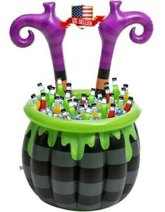 40''Halloween Inflatable Witch Legs Cooler Party Supplies for Halloween Parties