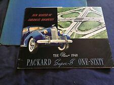 1940 Packard Super 8 160 Prestige Color Brochure Catalog Prospekt