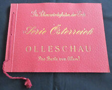 OLLESCHAU SAMMEL-BILDER-ALBUM SERIE ÖSTERREICH KOMPLETT Topzustand um 1930
