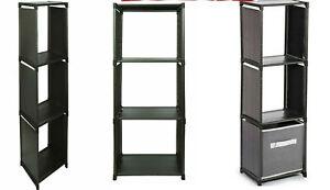 New Cube 3 Tier Plastic Bookcase Bookshelf Storage Shelf Unit Display Stand