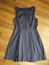 Cue in the City Navy Fit & Flare dress size 12 sleeveless peekaboo neckline