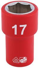 ORIGINAL Draper 1cm Cuadrado Dr. TOTALMENTE Aislado VDE Enchufe (17mm) 31720