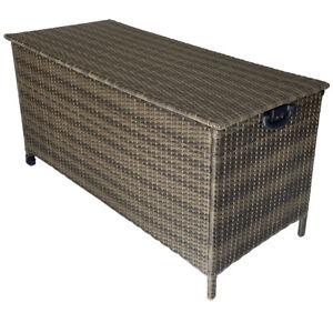 KMH® Polyrattan Kissentruhe Auflagenbox Kissenbox Auflagentruhe Gartentruhe
