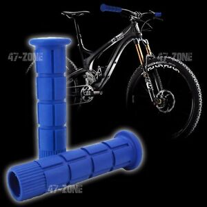 2x Blue BMX Bike Bicycle Handle Bar Grip Non Slip OE Style Soft Rubber Covers