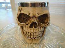 Skull & Bones Tankard Skeleton Coffee Cup Mug Stein Stainless Steel Poly Resin