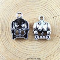 51261 Antique Silver Alloy 21*15*5mm Dog Head Pendant Charms Craft Findings 45x