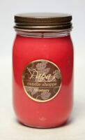 Papa's Candle Shoppe Strawberry 16 oz Mason Jar, Highly Scented Soy Wax Candle!