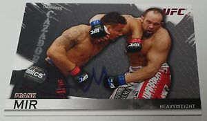 Frank Mir Signed UFC 2010 Topps Knockout Card #20 Autograph 81 48 92 100 119 140