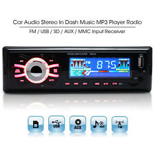 In-dash 50W x 4Ch 1Din Audio Car Stereo Player Usb Aux Sd Mp3 Fm Radio Receiver