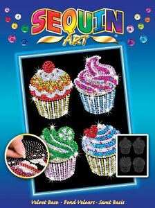 Sequin Art 1130 Cupcakes Craft Kit from the Blue Range