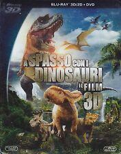 Blu-ray 3D + Blu-ray 2D + Dvd «A SPASSO CON I DINOSAURI» nuovo slipcase 2014