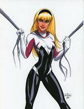 Sexy Gwen Stacy Spider-Woman Spider-Man original art by Scott Dalrymple