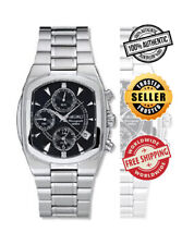 SEIKO Alarm Chronograph SNA539 SNA539P1 Men Steel Black Dial 100m Quartz Watch