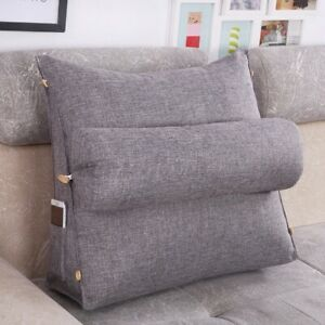 Adjustable Wedge Pillow Sofa Bed Office Seat Chair Rest Neck Back Suppor