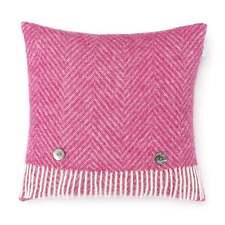 Bronte By Moon Shetland Herringbone Cushion - Cerise Pink