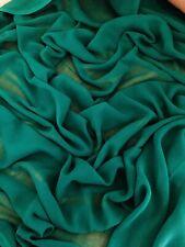 "3 mtr green chiffon dress fabric..45""'wide (114cm)"
