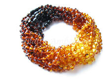 Amber Wholesale, Lot of 10 Rainbow Color Polished Baltic Amber Baby Necklaces