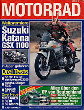 Motorrad 8 1981 Magni Honda MH1 Husqvarna 430WR Kawasaki Z1300 Katana Moto Guzzi