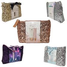Cosmetic Gift Set, Christmas Make-Up Bag With Hand Lotion, Lip Gloss,Body Wash,