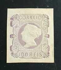 Portugal Stamp 100 réis 1853  #4 Mint OG NH $ 32.000