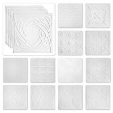 20 qm Styroporplatte Decke weiß XPS Dekore 50x50cm verschiedene Dekore Sparpaket