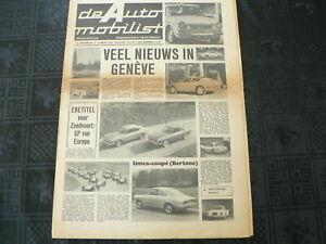 DE AUTO MOBILIST 1962 NO 12 BMW 700 LS,DE COCQ,SHOW GENEVE,ABARTH,RENAULT,LOANO,