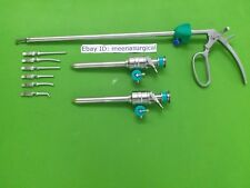 Laparoscopic Buldog Clamp With 6 Clip Trocar Cannula 10mm Surgical Instruments