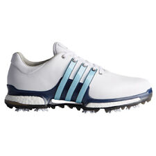 adidas Tour360 Boost 2.0 Golf Shoe Mens Q44938 White ice Blue Wide Width  2018 15 b143c0a61