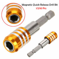 """New 1/4"""" Hex Shank Magnetic Drill Bit Screwdriver Holder Quick Release 60mm"""