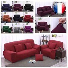 Housse Canapé Spandex Polyester Lycra Pr Fini 1-4 Place Sofa Fauteuil Extensible