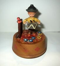 Antique Anri ANIMATED MUSICAL MUSIC BOX - THE CHILDREN'S MARCHING SONG