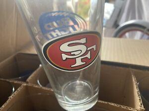 Bud Light San Francisco 49ers NFL Football 16 oz Beer Pint LOGO Official Glass