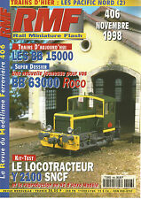 RMF N° 406 BB 15000 / BB 63000 / LOCOTRACTEUR Y 2100 SNCF / PACIFIC NORD