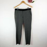 KENAR Women's Dress Pants Skinny Ankle Gray Black Polka Dot Size 2