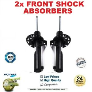 2x Front Axle SHOCK ABSORBERS for DACIA LOGAN MCV II 1.5 dCi 2013->on