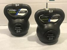LOT OF 2 - 5 LB KETTLEBELLS - PRO STRENGTH - FITNESS EXERCISE - FLAT RATE SHIP