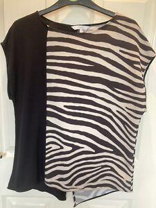 Ladies Next Zebra Print Top Size 14